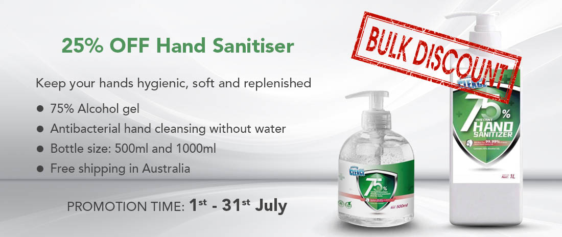 25% Off Hand Sanitiser at Leading Catering